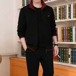 阿迪达斯的运动服 阿迪达斯男士运动服套装三件套